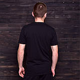Чоловіча спортивна футболка FILA, чорного кольору, фото 2