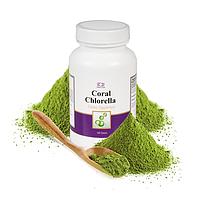 Корал Хлорелла Coral Chlorella  Полноценное питание Выводит соли тяжелых металлов. Улучшает пищеварение
