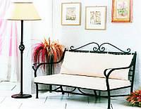 Кованый диван в прихожую 5 ( с мягкой частью)