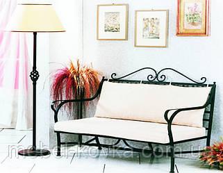 Кований диван у вітальню 5 ( з м'якою частиною)