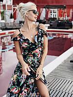 99d6e920efdee9 Летнее платье-сарафан на запах