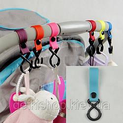 Гачки для коляски (пластик, бірюзові)