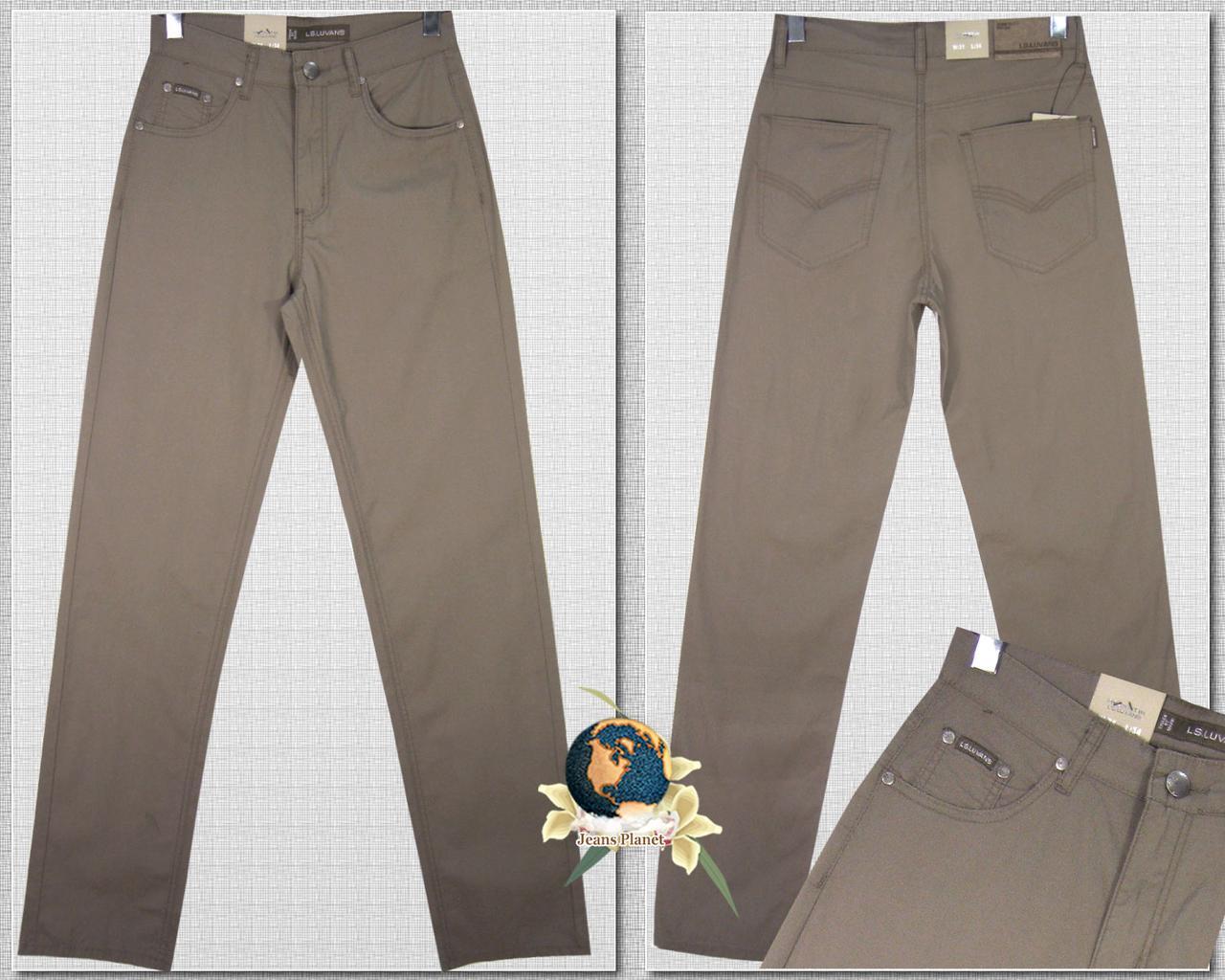 Летние мужские брюки-джинсы из лёгкого стрейчевого коттона LS