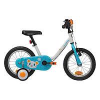 Дитячий велосипед з бічними колесами стабілізації, 3-5 РОКІВ, 14-дюймовий Арктика, фото 1