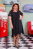 Большое нарядное платье Папоротник черное, фото 1