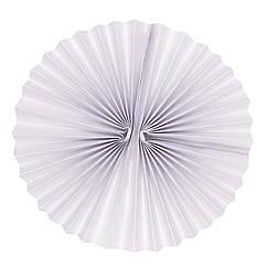 Плотный бумажный веер 25 см белый