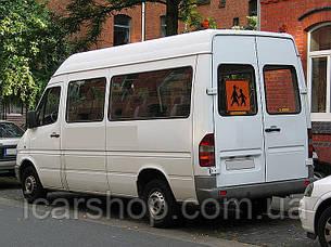 Стекло M. Sprinter I / VW. LT 35 95-06 тыл левый (утопленный) 635 * 628 (Уплотнитель)