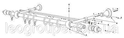 Планка для тюль 2,4 м