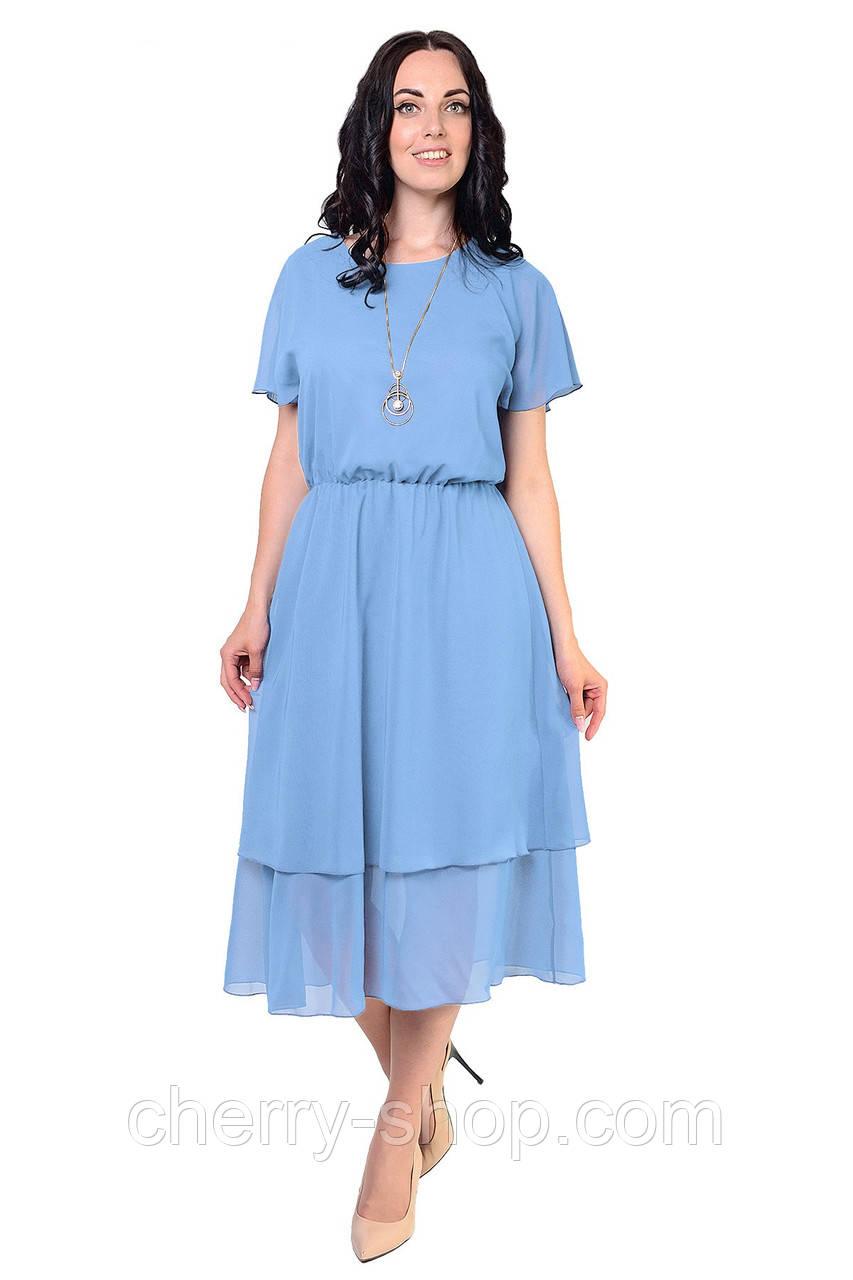 Літнє плаття з шифону неймовірного небесного кольору