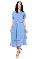 Летнее платье из шифона невероятного небесного цвета