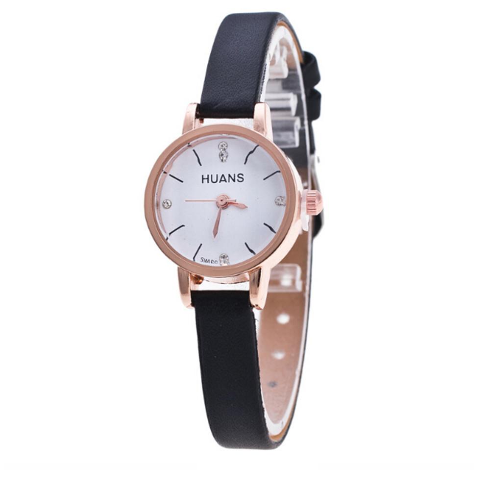 Женские наручные часы с черным ремешком код 484