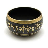 "Чаша поющая ""будда"" (11х11х6 см)(singing bowl black buddha no.1)"