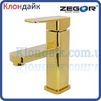 Смеситель для умывальника Zegor LEB1-A-G WKB123 (золото)