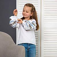 Вышиванка для девочки Доля на домотканой ткани , фото 1