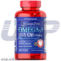 Omega-3 Fish Oil 1200 mg (360 mg Active Omega-3) 100шт омега-3 жирные кислоты омега 3