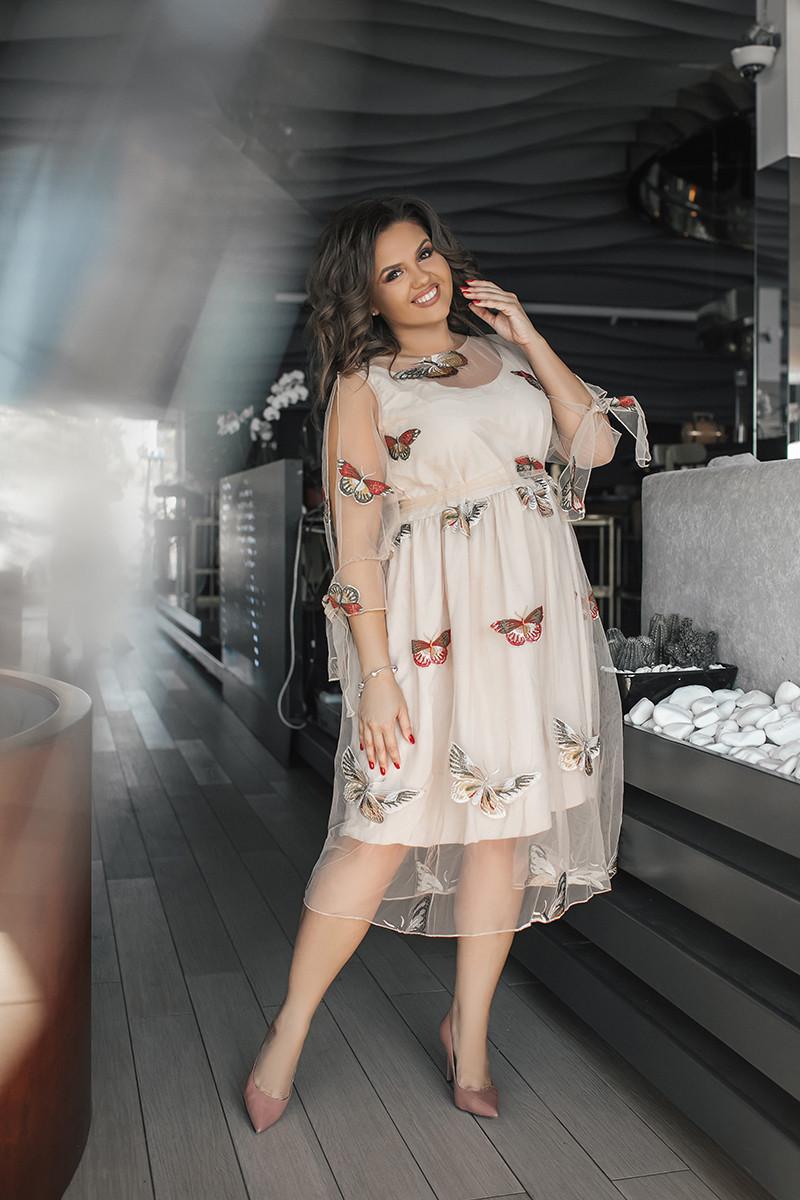 Брендовое платье Птицы 03837