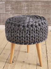 Пуф круглый на ножках HANDMADE K.GRI 40x45х40х25см темно-серый