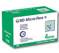 Иглы для инсулиновых шприц-ручек  32 G (0,23 x 4 мм)