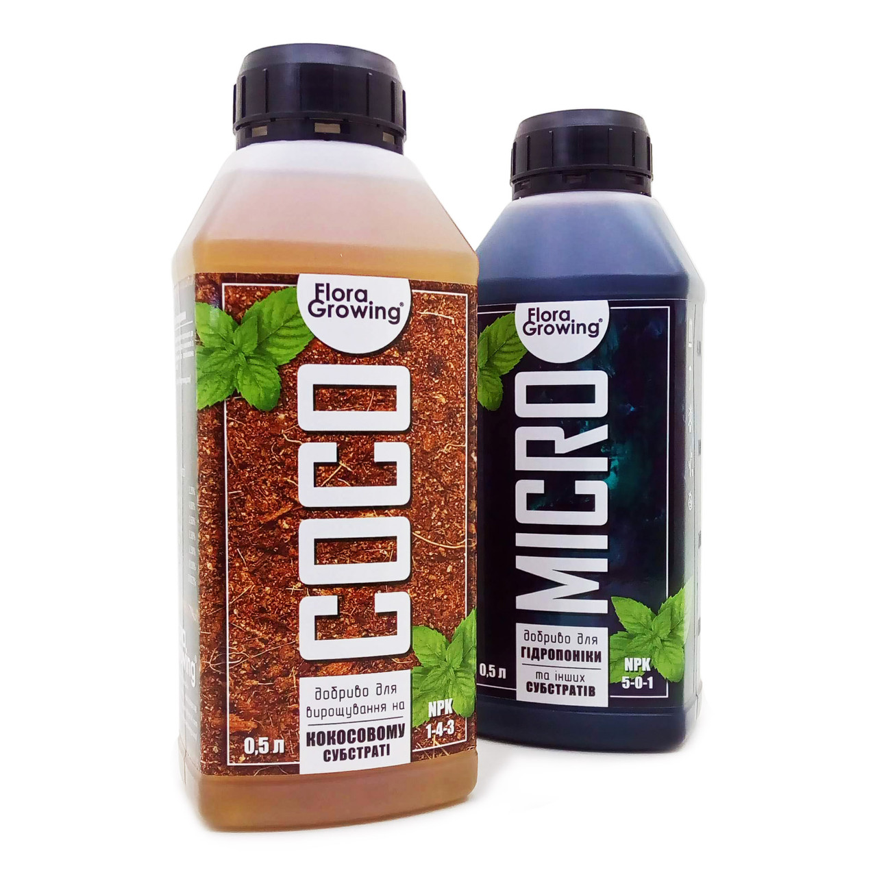2 х 500 мл Coco Kit - Комплект удобрений для выращивания в кокосовом субстрате (аналог Canna COCO)