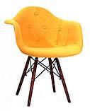 Крісло Leon Walnut Шерсть, жовте, фото 2