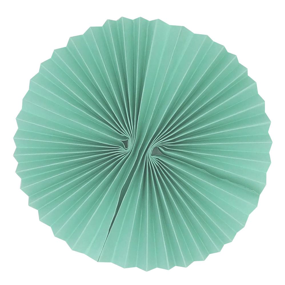 Бумажный веер 25 см нежно-мятный