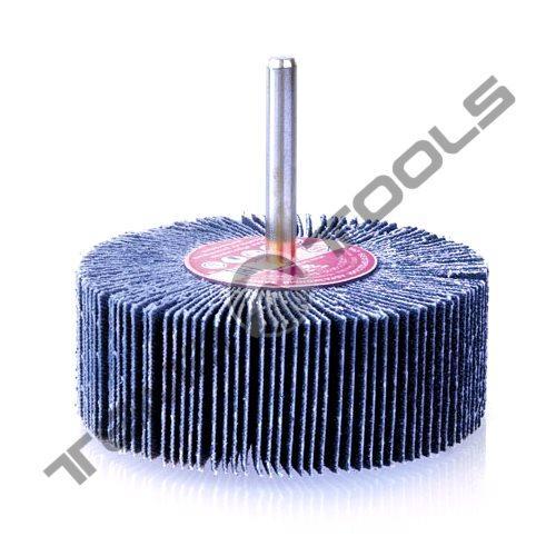 Круг шлифовальный лепестковый КЛО 40x30x6 P80 с оправкой (циркониевый)