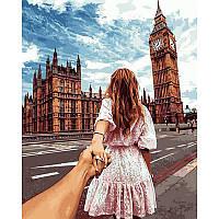 Картина по номерам Следуй за мной Лондон 40Х50 Babylon VP706