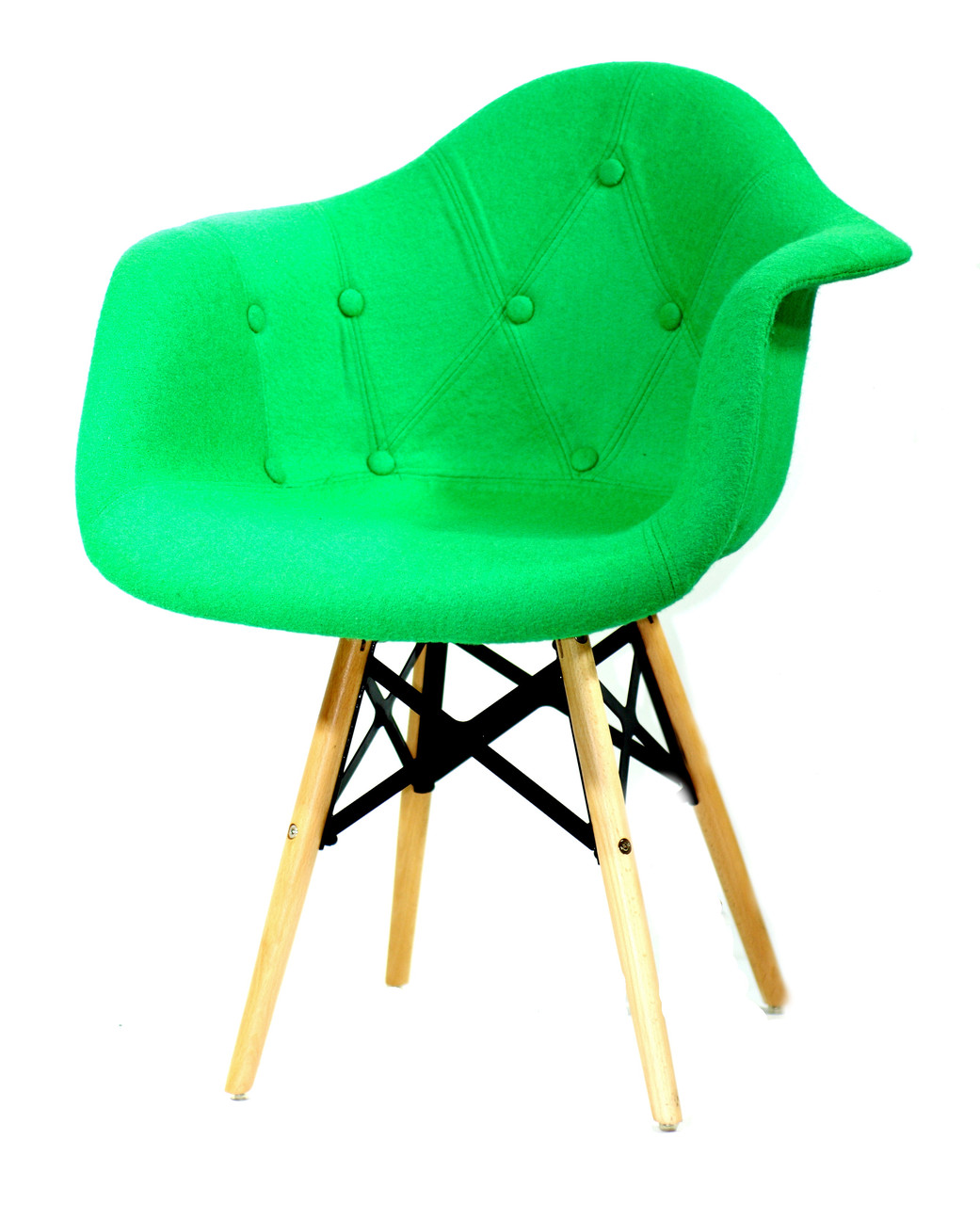 Крісло Leon Strong Шерсть, зелене
