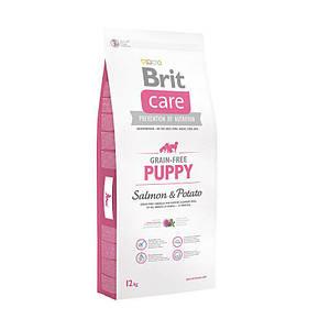 Сухий беззерновой корм Brit Care Puppy для цуценят, з лососем і картоплею 12кг