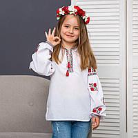 Вышиванка для девочки нежные  розочки, фото 1