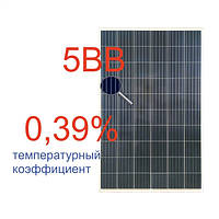 Сонячна батарея (панель) 285Вт, полікристалічна RSM-60-285P/HC/5 BB TIER 1, Risen