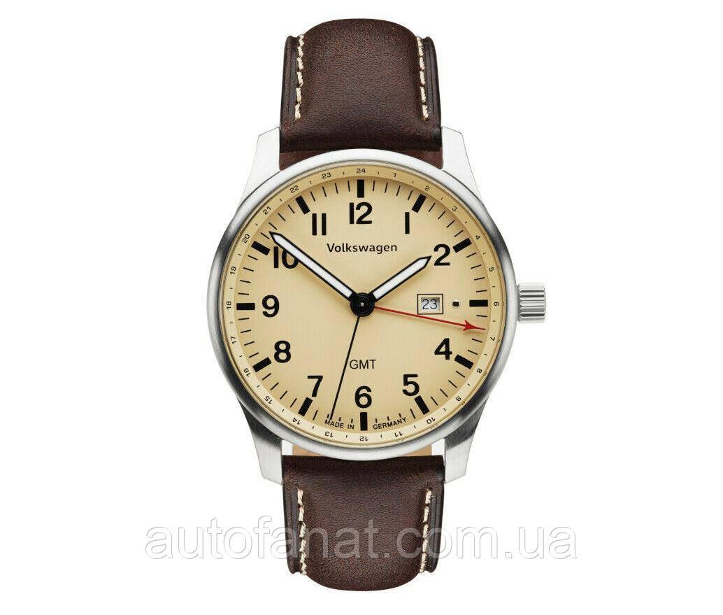 Оригинальные мужские наручные часы Volkswagen Men's Watch, Mocca-Brown/Cream (33D050800A)