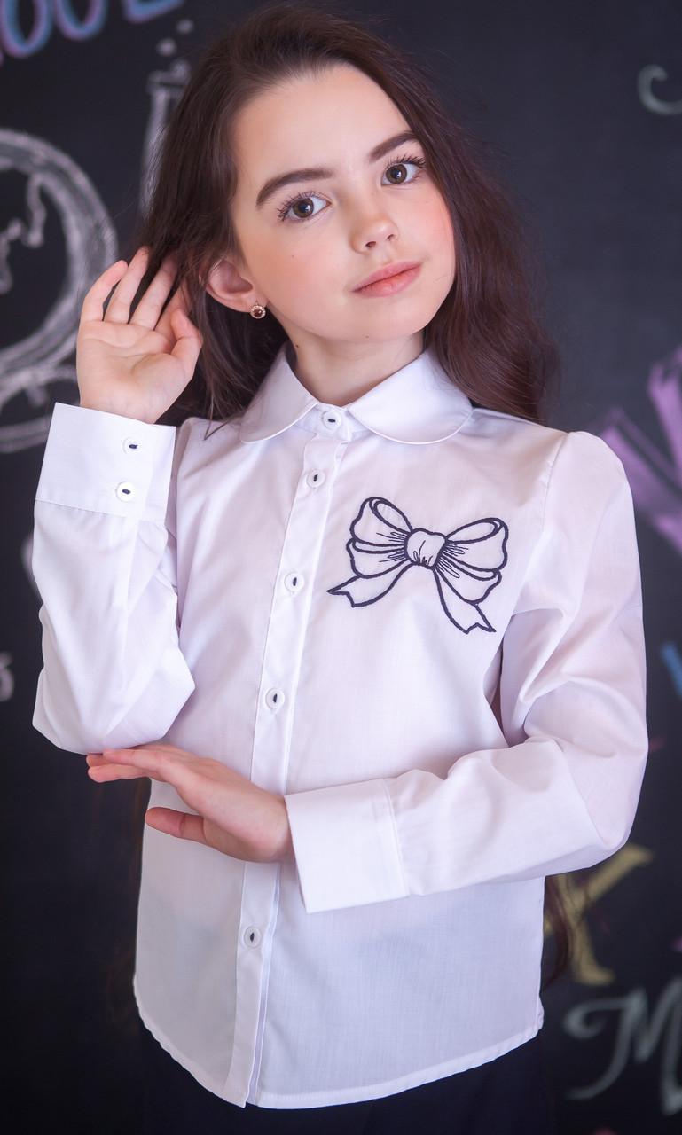 Блузка Світ блуз мод. 5035 з вишитим бантом р. 122