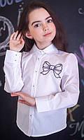 Блузка Світ блуз мод. 5035 з вишитим бантом р. 122, фото 1