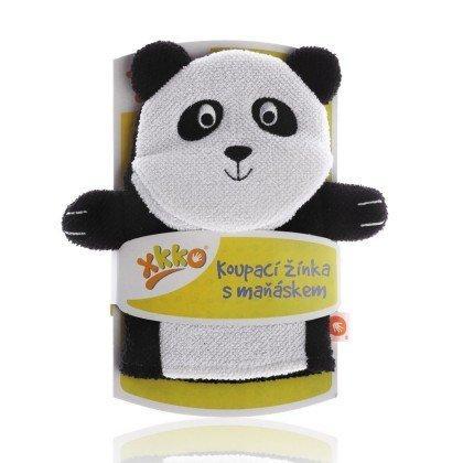 Мочалка-рукавичка ,хлопковая ХККО Панда
