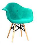 Кресло Leon Strong Шерсть, бирюзовое, фото 2