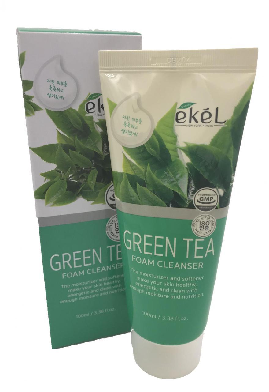Пенка для умывания  с экстрактом зеленого чая Ekel Green Tea Foam Cleanser, 100 мл