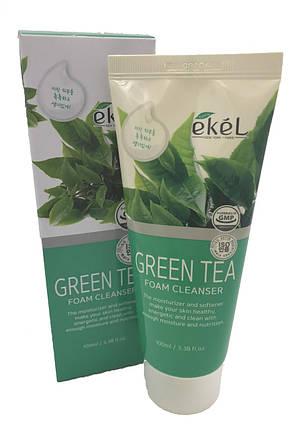 Пенка для умывания  с экстрактом зеленого чая Ekel Green Tea Foam Cleanser, 100 мл, фото 2