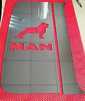 Комплект накладок на кабину MAN TGA TGX из нержавеющей стали, комплект 4 шт, фото 1