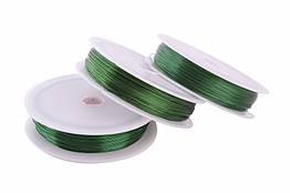 Проволока 0,3 мм для рукоделия зеленая