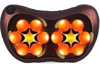 Роликовый массажер для спины и шеи CHM-8028 (массажная подушка) 12 роликов