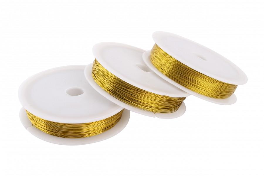 Проволока 0,3 мм для рукоделия золото