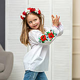 Вышиванка для девочки маковое  поле, фото 3