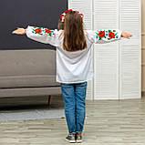 Вышиванка для девочки маковое  поле, фото 5