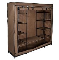 """Текстильный шкаф с 12 полками """"KAJA MIDI"""" (темно-коричневый), фото 1"""