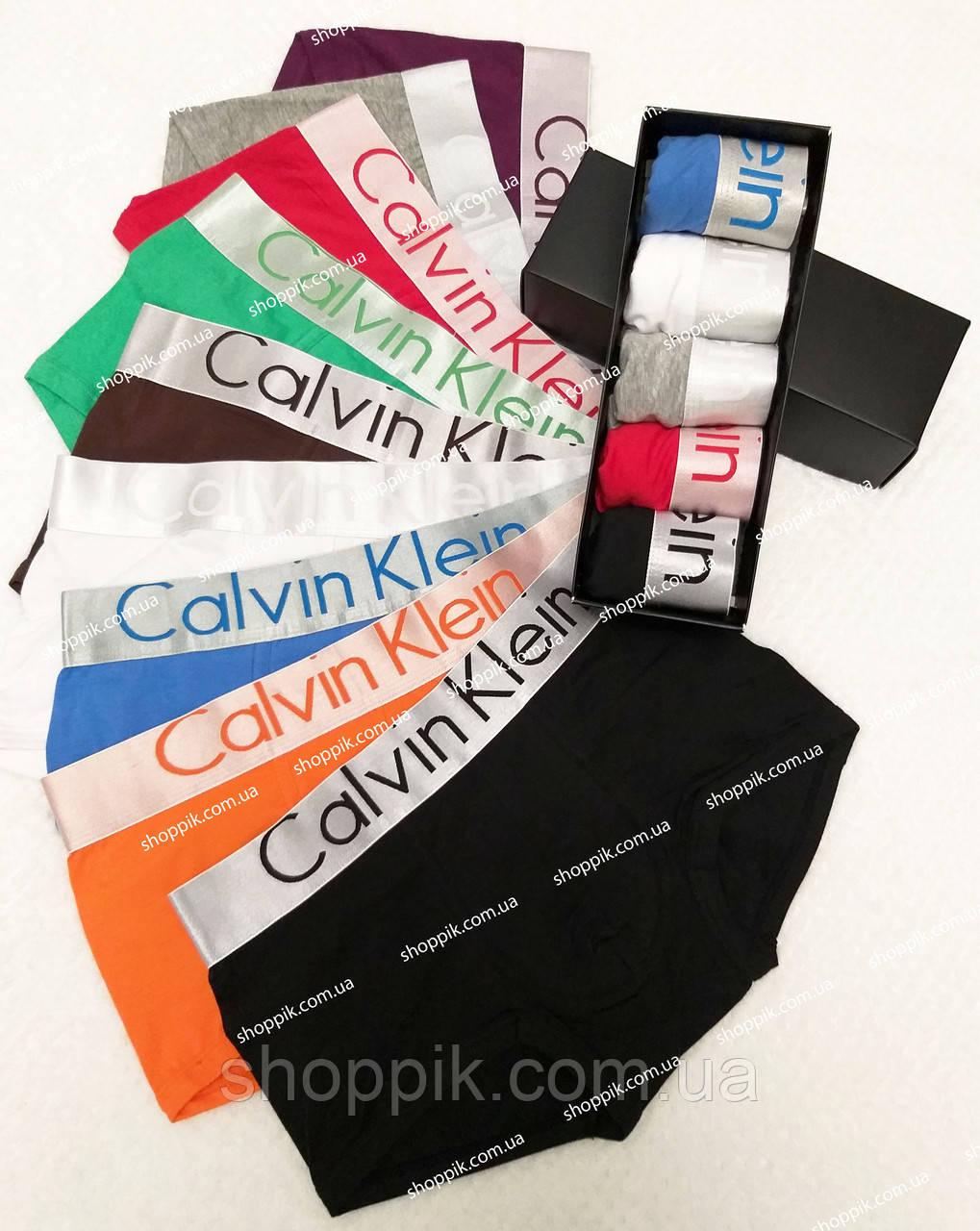 Мужские трусы Calvin Klein Steel 5 штук  в фирменных упаковке | Набор трусов | Реплика