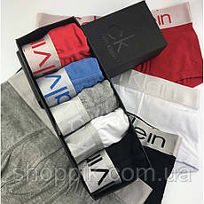Мужские трусы Calvin Klein Steel 5 штук  в фирменных упаковке | Набор трусов | Реплика, фото 3