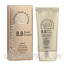 Тональная основа Mizac Premium Snail BB Cream 4in1