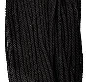 Декоративний Канат ХБ 4мм (100м) чорний, фото 1
