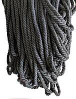 Декоративний Канат ХБ 6мм (100м) Чорний, фото 1